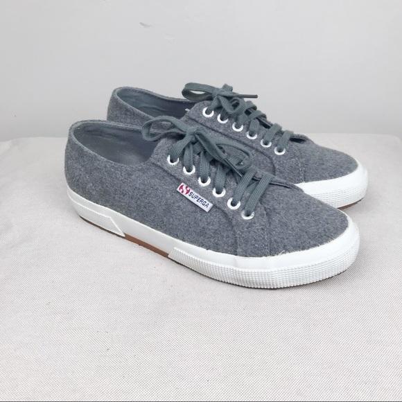 Superga 275 Wool Charcoal Sneakers